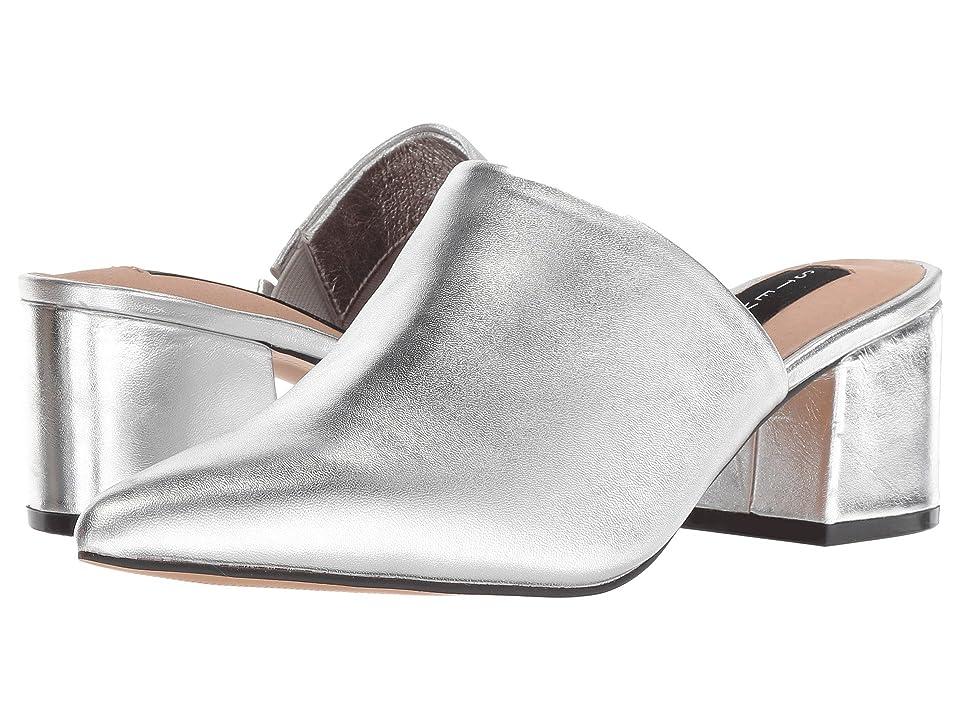 Steven Simone (Silver Leather) Women's Clog/Mule Shoes