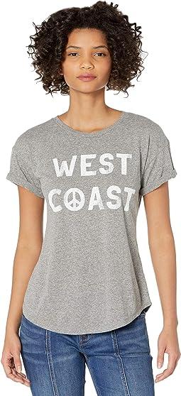 West Coast Rolled Short Sleeve Slub Tee