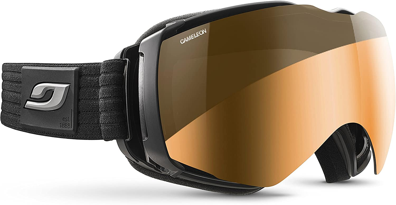 Julbo Aerospace Photochromic Snow Goggles Ultra Venting Superflow Technology No Fogging  Cameleon  Black Grey