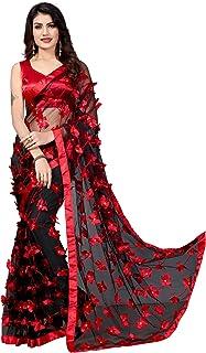 JULEE Women's Net Embroidery Saree-999