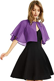 Women's Soft Chiffon Shawl Wraps Shrug for Evening Dress Wedding Cape Bolero Flapper Cover Up