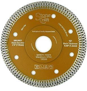 Stonecraft Diamond Cutting Blade 4 1/2 Inch Ultra Thin Turbo Disk Wet/Dry Ceramic Tile