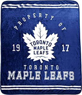 Northwest Toronto Maple Leafs 50x60 inch Micro Raschel Plush Throw Blanket