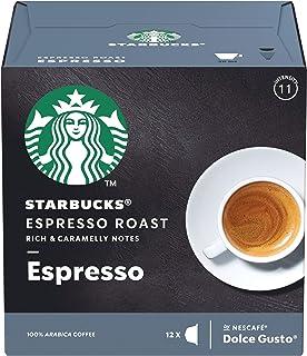 Starbucks Espresso Roast Espresso, Coffee, Roasted Coffee Capsules 12 Capsules compatible Nescafé Dolce Gusto