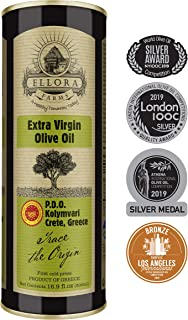 Ellora Farms | Single Estate (Kolymvari) Extra Virgin Olive Oil | Cold Pressed & Traceable | Certified PDO Koroneiki Olives, Crete, Greece | Kosher OU | BPA Free 17 Oz Tin