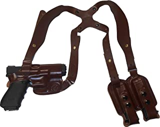 CZ 75 Compact Leather Shoulder Gun Holster Horizontal RH Right Hand or LH Left Hand Black or Brown Concealed Carry