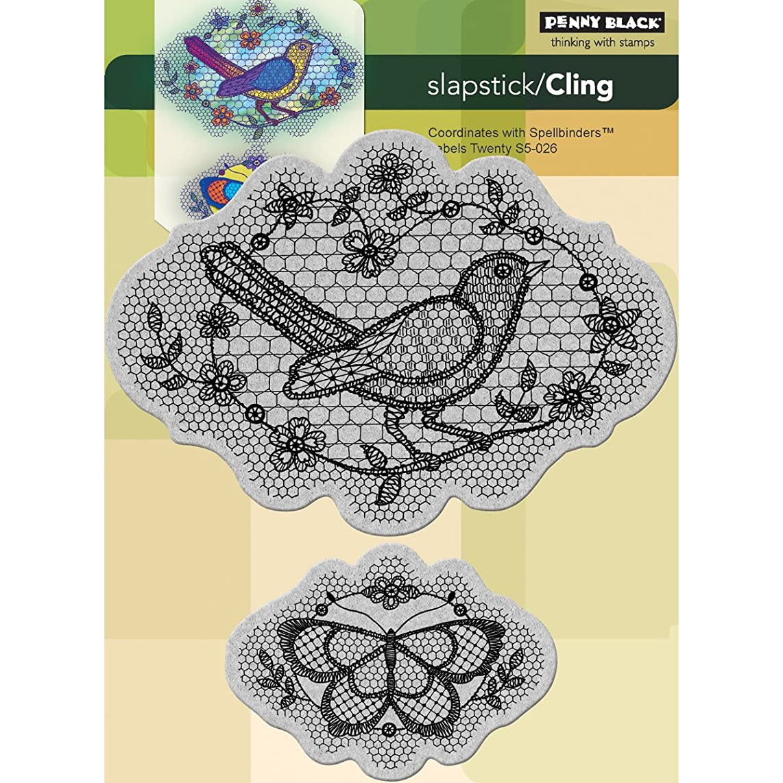 Penny Black 40-139 A Flight of Thread Cling Rubber Stamp