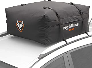 Rightline Gear Range Jr Car Top Carrier, 10 cu ft Sized for Compact Cars, Weatherproof +, Attaches With or Without Roof Ra...