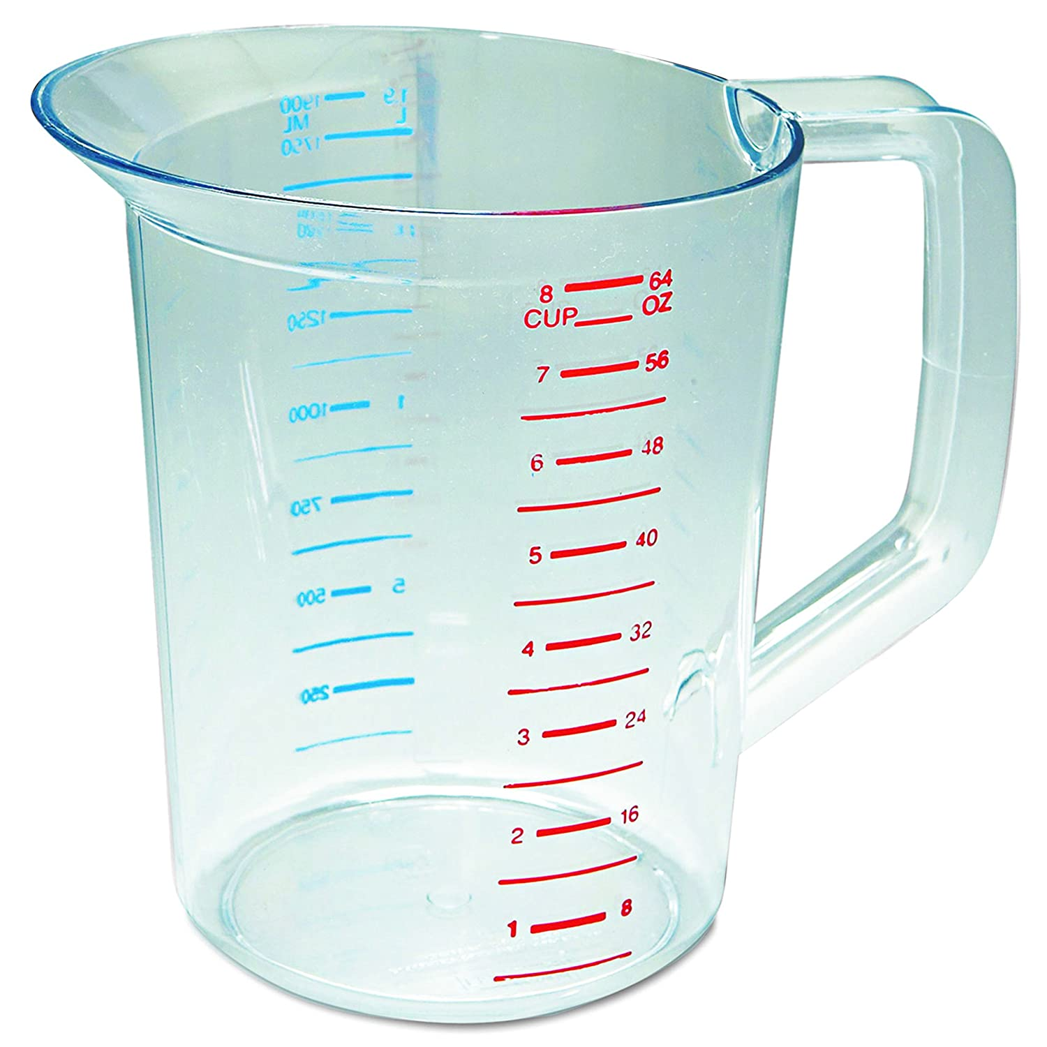 Rubbermaid Commercial 3217 2 qt Capacity Polycarbo Color Free shipping anywhere in the nation Clear Minneapolis Mall