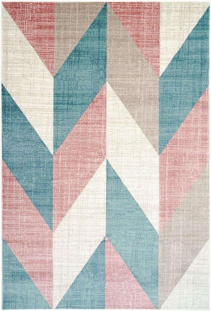 Ladole Rugs Vng10411 Inspiration Collection Vintage Chevron Machine Made Geometric Pattern Area Rug Carpet Multicolor 3 11 X 5 7 120cm X 170cm Amazon Ca Home Kitchen