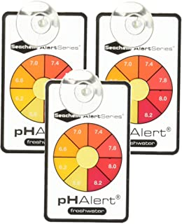 Seachem 3 Pack of pH Alert Devices, Continuously Monitors Freshwater for 3 to 6 Months Each