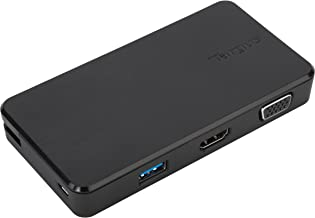 Targus VersaLink Universal Travel Laptop Dock with VGA/HDMI Connectivity & 2 USB 3.0 Ports for PC, Mac, & Android (DOCK110USZ)