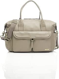 Storksak Charlotte Leather Shoulder Bag Diaper Bag, Clay