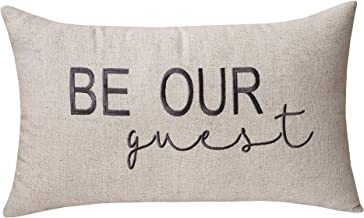 DecorHouzz Be Our Guest Embroidered Pillow Cover Pillow Cases Throw Pillow Decorative Pillow Wedding Birthday Anniversary Gift 12