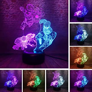 Lights & Lighting Marvel Legends Gifts For Boys Black Panther 7 Color Change Figure Action Night Light Fans Man Father Brothers Holiday Xmas Lamps