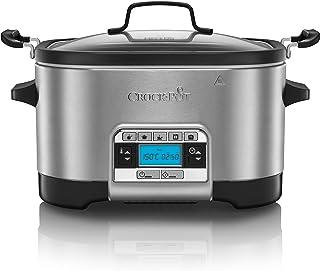 Crock-Pot CSC024 Olla de cocción Lenta, 240 W, 5.6 litros, Acero Inoxidable, Gris