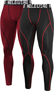 c5dac13d9c Neleus Men s 2 Pack Compression Pants Workout Running Tights Leggings