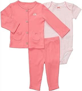 Carters Baby Girls' 3pc Cardigan Pant