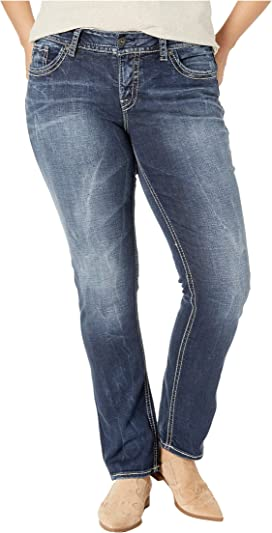 05ff5dc3 Plus Size Suki Mid-Rise Well Defined Curve Straight Leg Jeans in Indigo  W93413SDI349. 9. Silver Jeans Co.