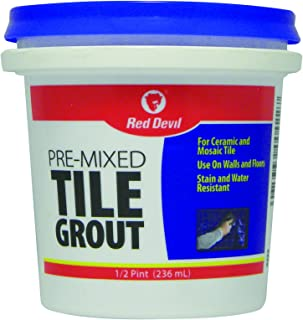 Red Devil 0422 Pre-mixed Tile Grout, 1/2-Pint, White