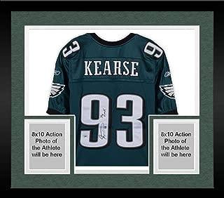 Framed Jevon Kearse Philadelphia Eagles Autographed Green Reebok Premier Jersey with