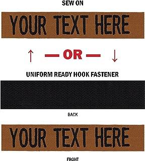 Northern Safari Custom Uniform Name Tapes Solid Colors. USA Made. Same Day Ship.