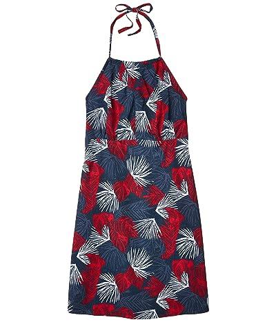 Columbia Armadaletm II Halter Top Dress (Collegiate Navy Feathery Leaves) Women