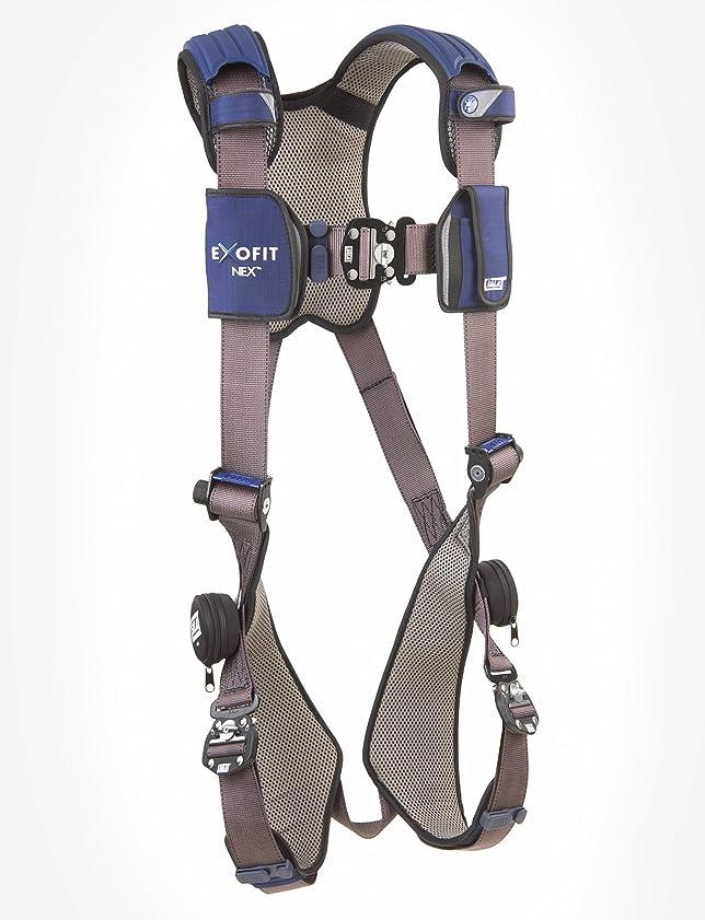 悪意愛撫気まぐれなDBI/Sala ExoFit NEX, 1113010 Vest Style Harness, Aluminum Back D-Ring, Locking Quick Connect Buckles, XL, Blue/Gray by Capital Safety