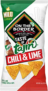 On The Border Taste of Tajín Clasico Tortilla Chips, 4 Ounce (Pack of 6)