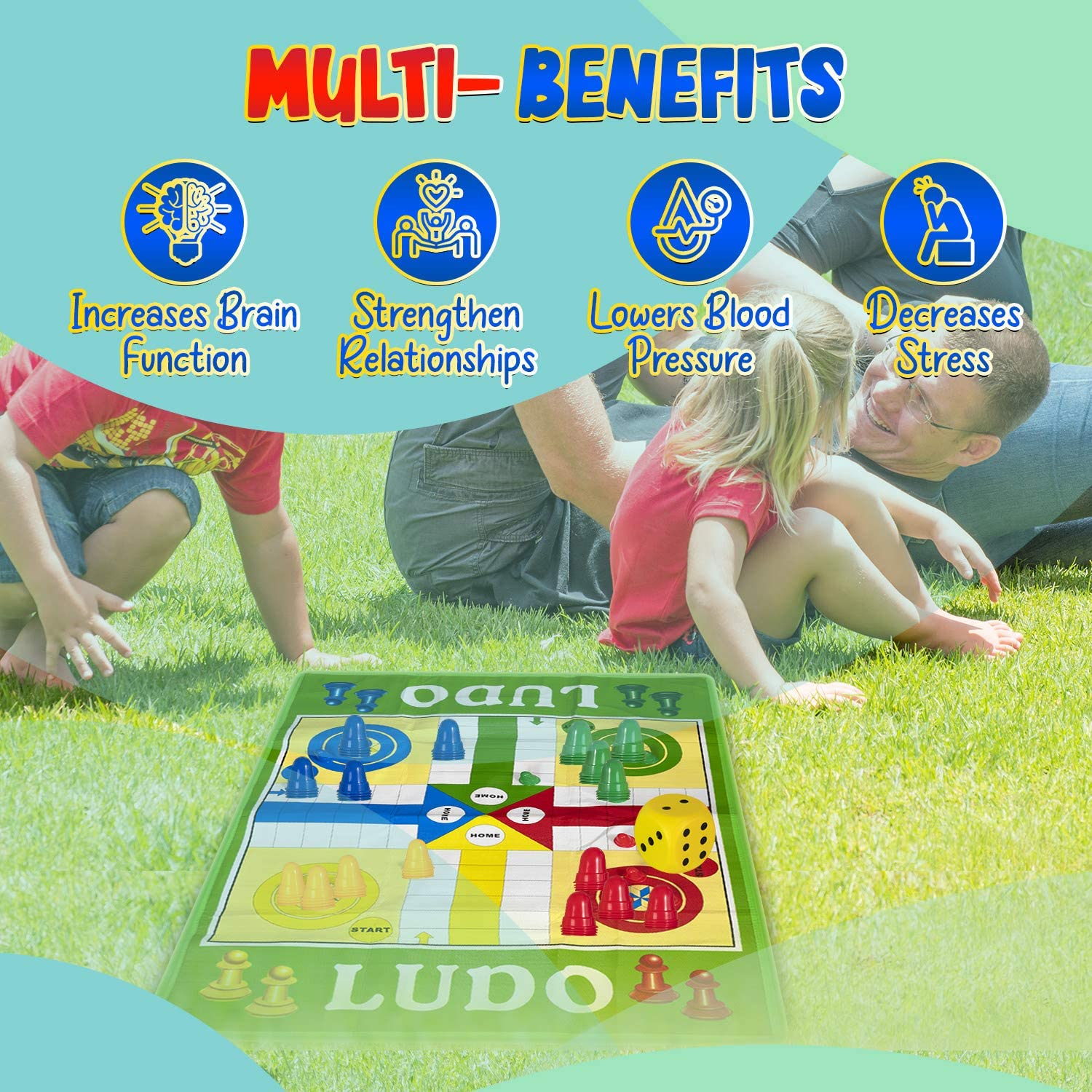 Snakes /& Ladders /& ludo board Game Giant Traditional Family Outdoor Game Gift