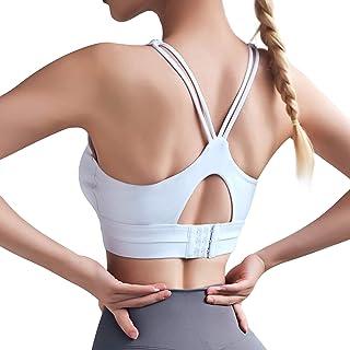 Sujetador deportivo para mujer con cuello en U, intensidad ajustable, sujeción fuerte