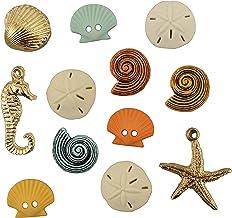 (Beach Treasures) - Buttons Galore Button Theme Pack, Beach Treasures