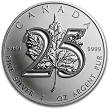 2013 CA Canada 1 oz Silver Maple Leaf BU (25th Anniv) 1 OZ Brilliant Uncirculated