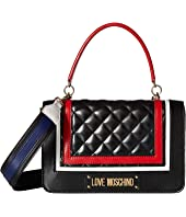 LOVE Moschino - Color Block Quilted Shoulder Bag