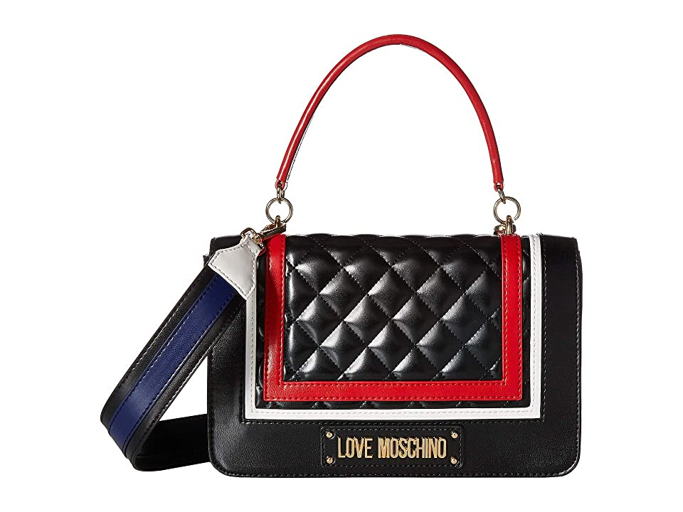 LOVE Moschino - LOVE Moschino Color Block Quilted Shoulder Bag