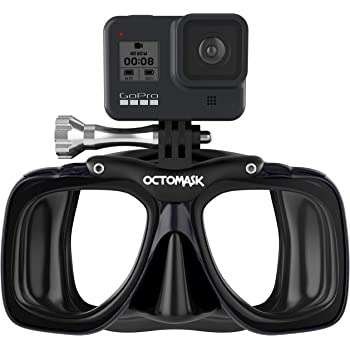 OCTOMASK - Dive Mask w/Mount for All GoPro Hero Cameras for Scuba Diving, Snorkeling, Freediving