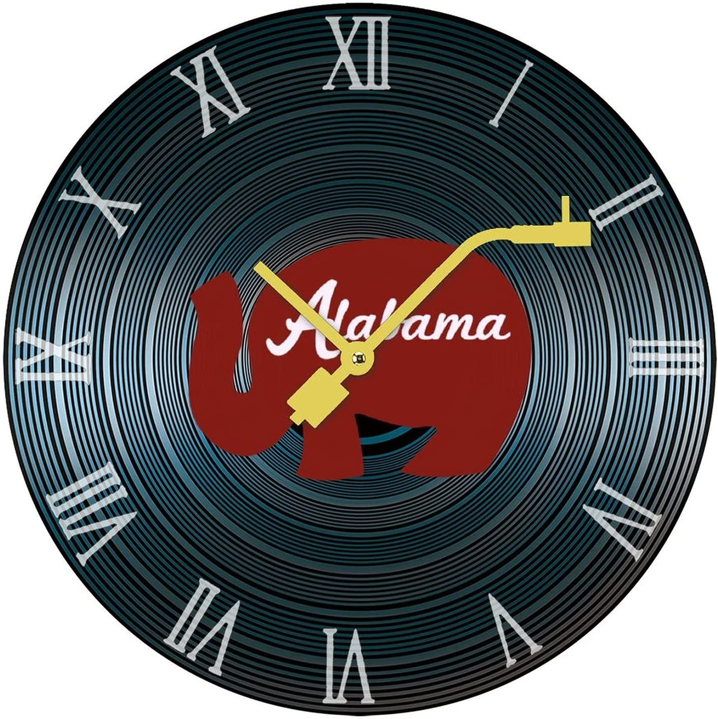 Red Alabama Elephant Wooden Wall Gifts Clock Home Liv Sale price for Clocks Retro