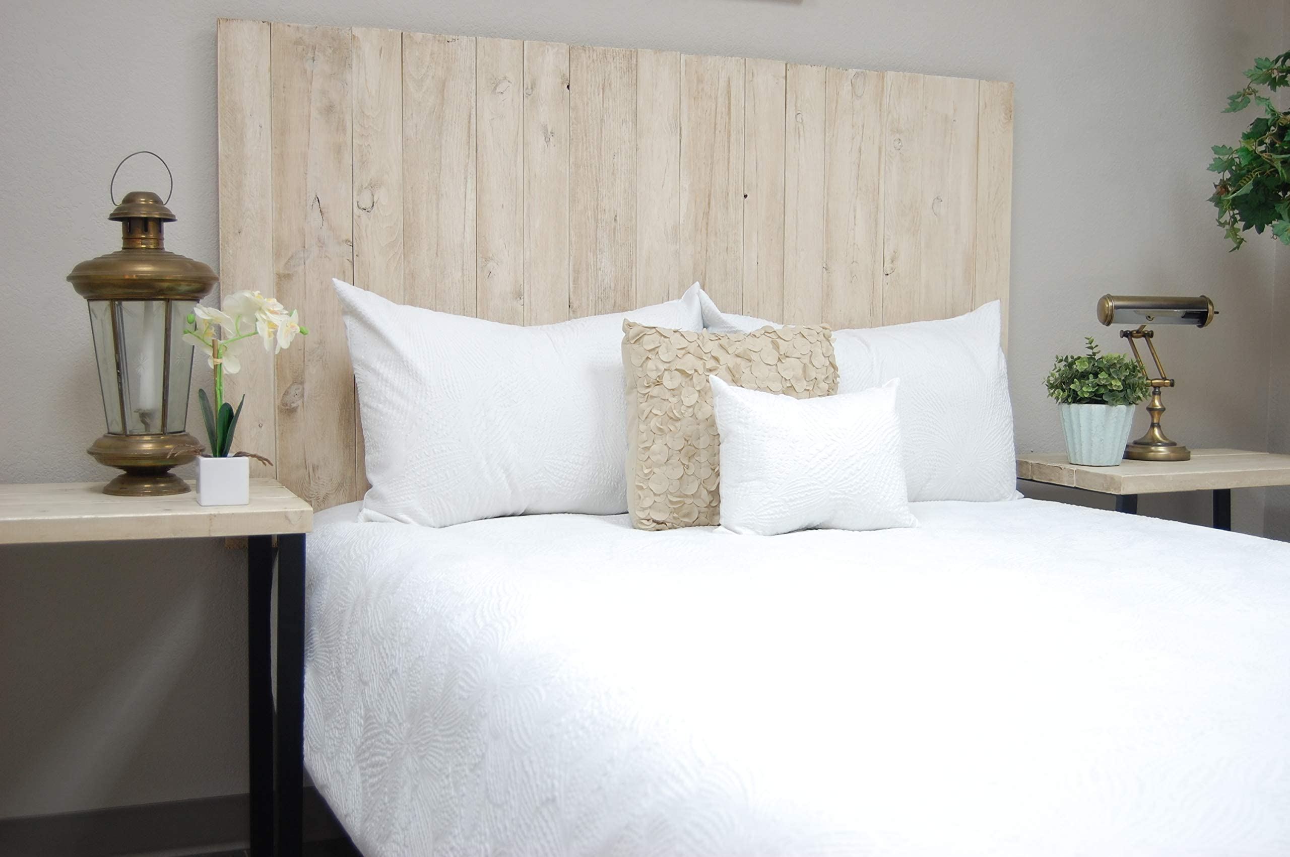 California King Queen Handcrafted King Full Easy Installation Mounts on Wall Hanger Style Twin Turquoise Headboard Weathered