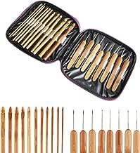 20Pcs conjunto de bambú de ganchillo Mango Bricolaje De Madera Aguja Tejer Con Estuche HM0002
