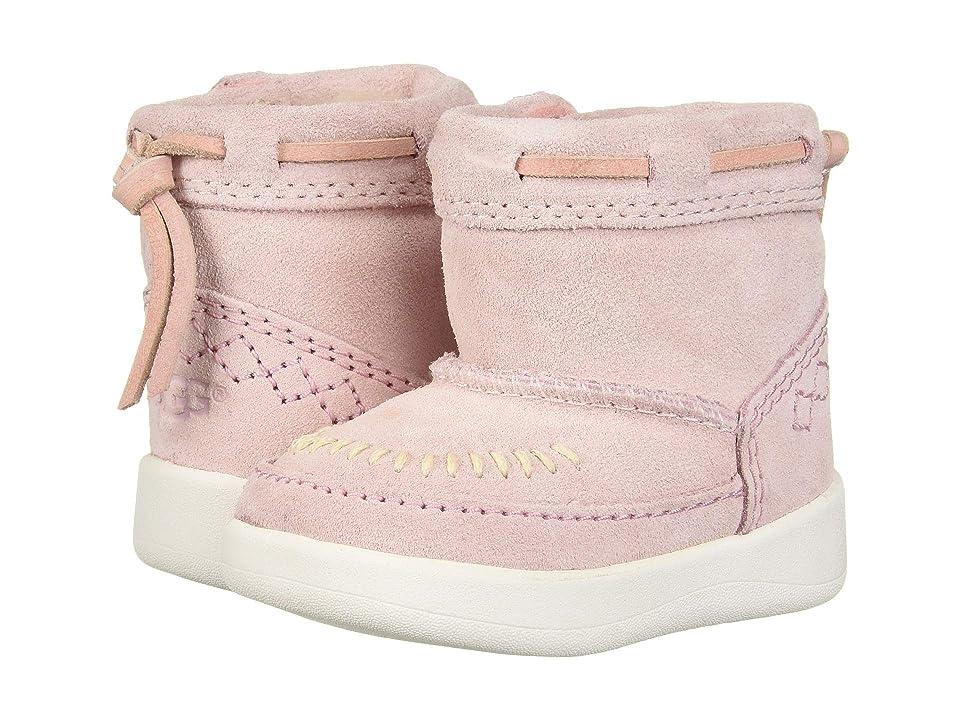 UGG Kids Cali Moc Campfire Bootie (Infant/Toddler) (Baby Pink) Girls Shoes