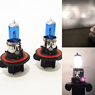 Mega Racer (1 Pair H13 / 9008 60/55W White 5000K Xenon Halogen Headlight Lamp Light Bulb (High/Low Beam) Replace Auto US
