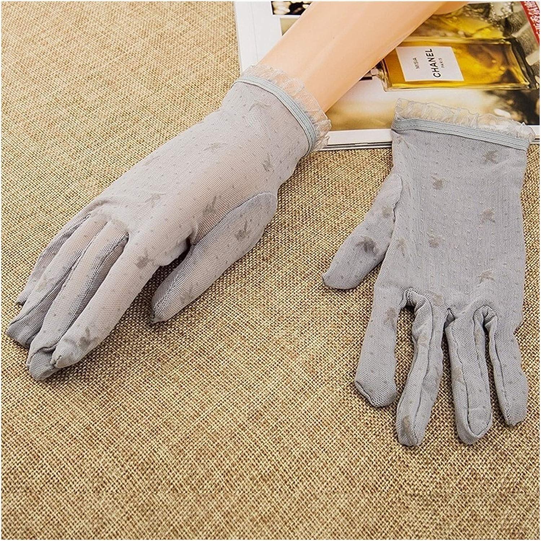 JBIVWW Women's Vintage Sunscreen Flower Gloves Anti-uv lace Gloves Knitted Flip Stars Moon Gloves Flip Top Gloves (Color : Gray)