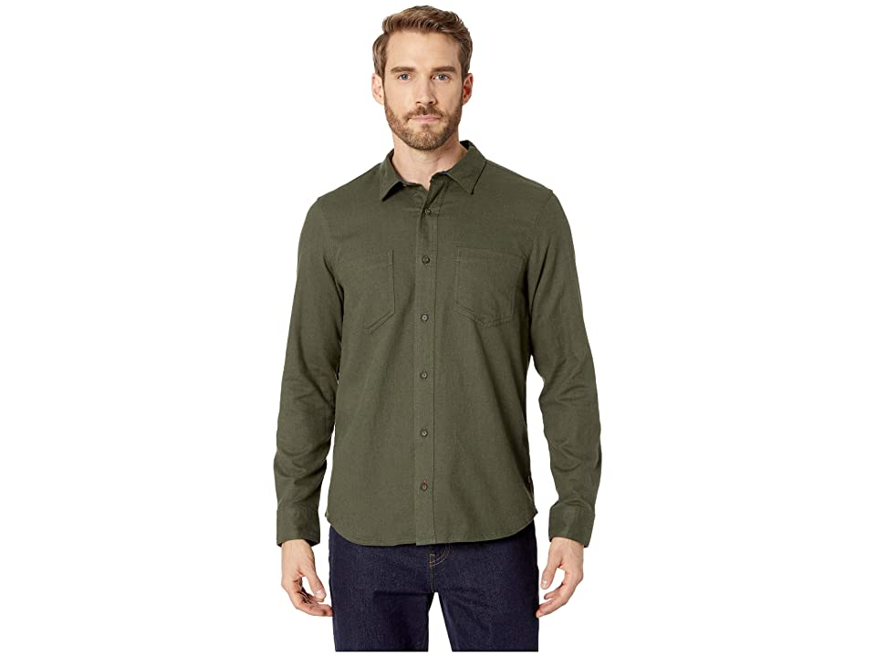 Toad&Co Flannagan Solid Long Sleeve Shirt (Rustic Olive Heather) Men