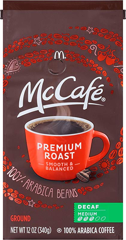 McCafe Premium Roast Decaf Ground Coffee 12 Ounce Pack Of 6