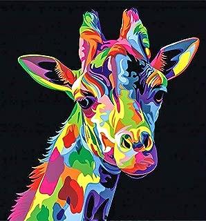 5D DIY Full Drill Round Diamond Painting Giraffe Embroidery Cross Stitch Kits
