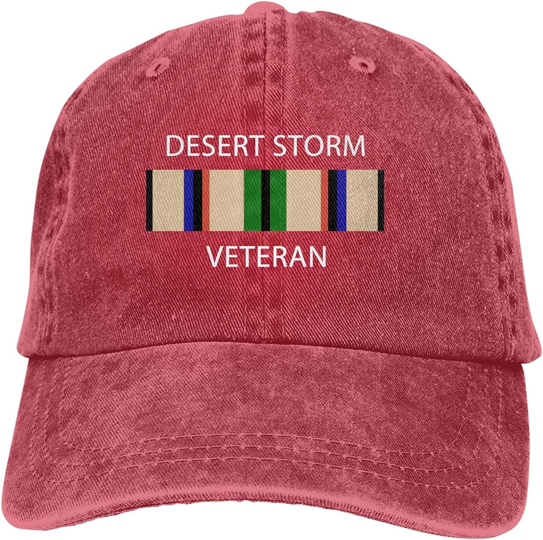 Denim Cap Desert Storm Veteran Logo Baseball Dad Caps Classic Adjustable Casual Sports for Men Women Hat