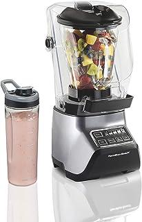 Hamilton Beach Quiet Blender, 55% Less Noise, 950 Peak Watts, 3 Presets Smoothie Ice Crush, 1.5L Food & Drink Glass Jar, ...