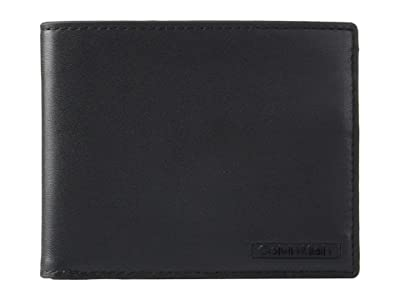 Calvin Klein Smooth Leather Bifold (Black) Bi-fold Wallet