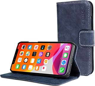 Snugg iPhone 11 Pro Wallet Case – Leather Card Case Wallet with Handy Stand Feature – Legacy Series Flip Phone Case Cover in Riverside Blue