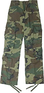 Army Universe Woodland Camouflage Vintage Military BDU Paratrooper Cargo  Fatigue Pants a2d9dc76027